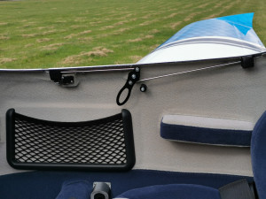 wall net pocket and canopy closing mechanism